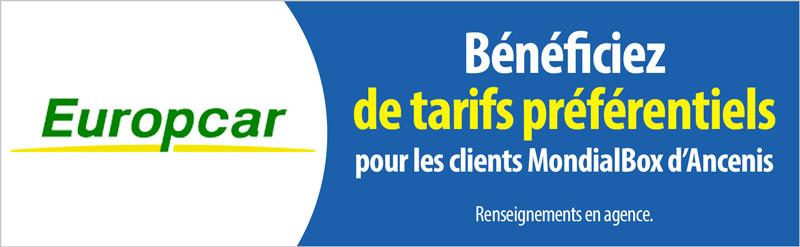tarifs preferentiels chez Europcar